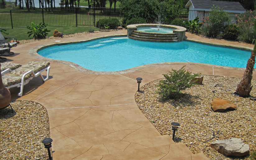 Working with artists home garden artisans Diy resurfacing concrete swimming pool deck ideas